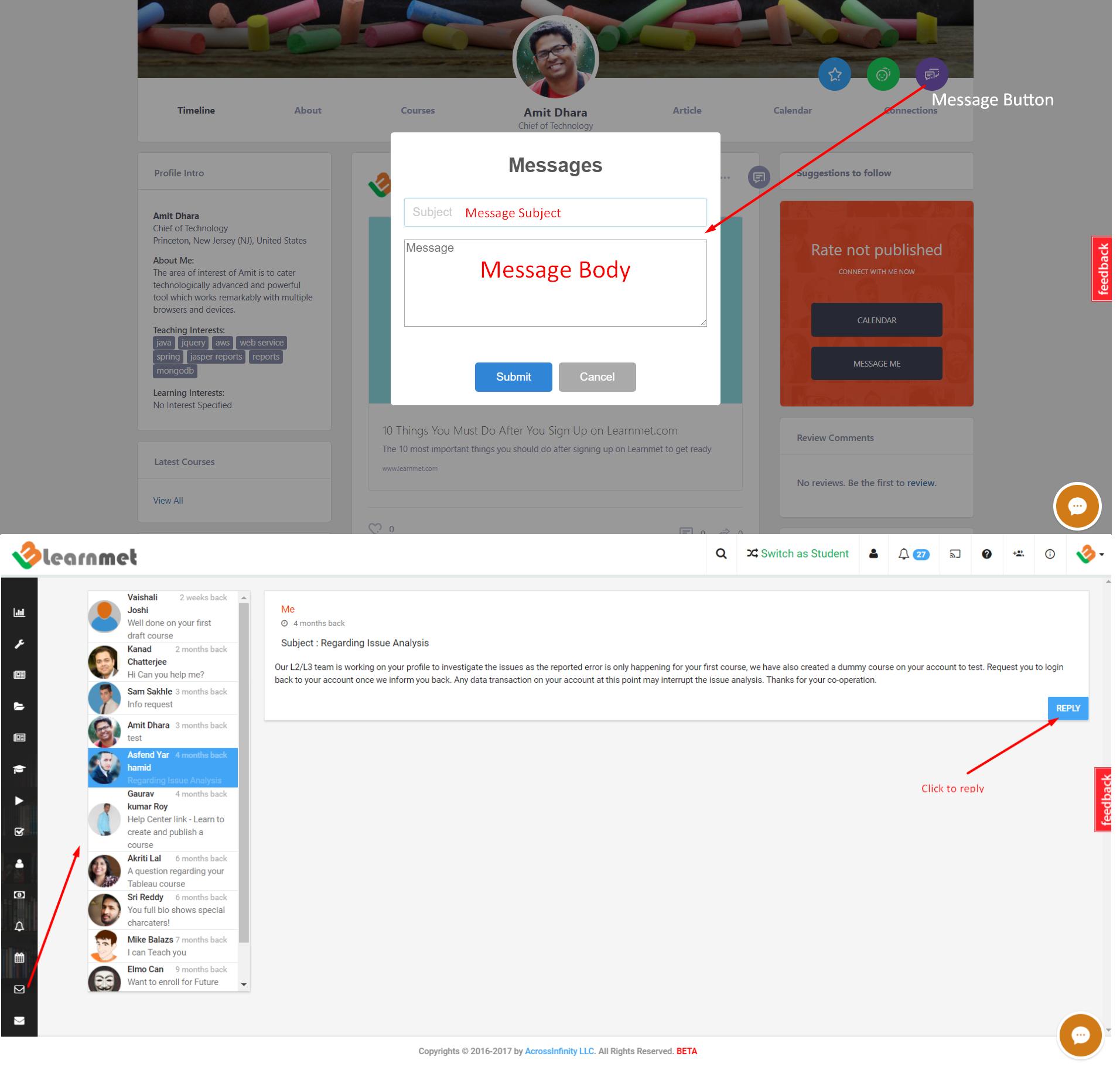 Learnmet Messaging