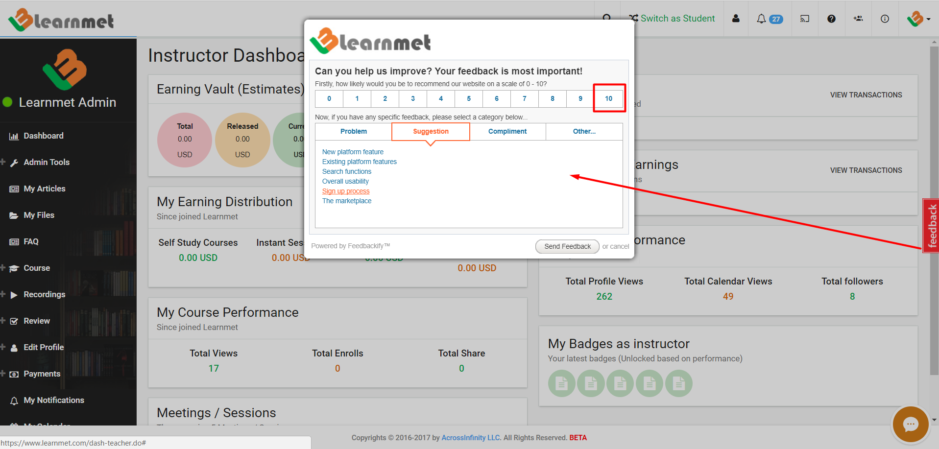 Learnmet Feedback Form