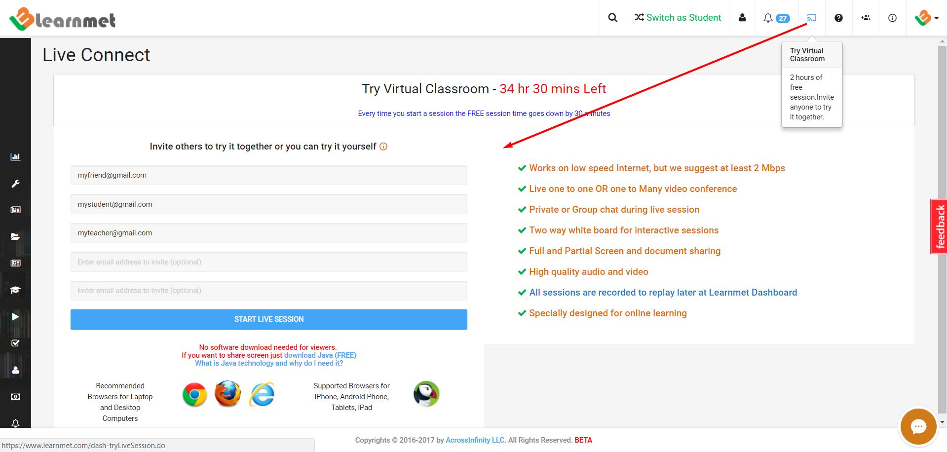 Learnmet Virtual Classroom